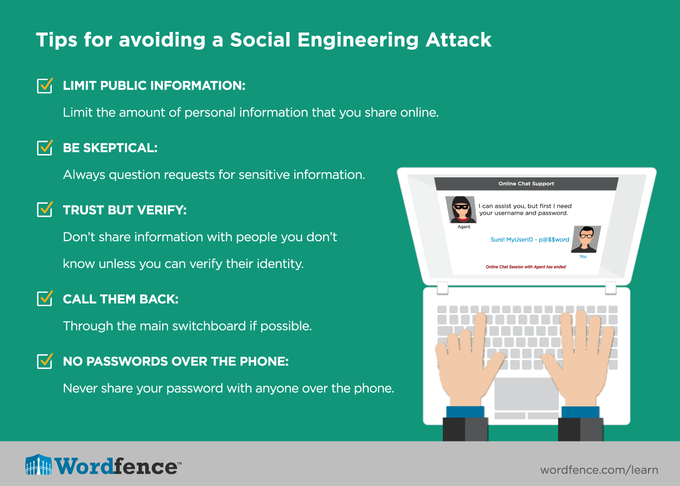 Tips for avoiding a social engineering attack