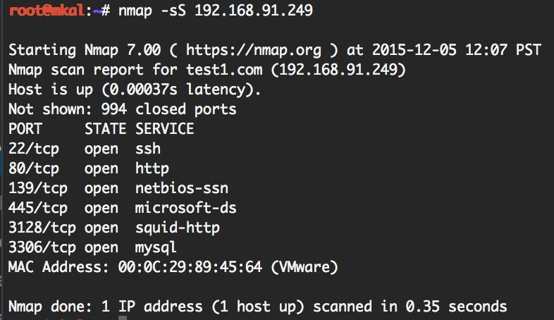 nmap simple scan