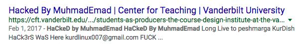 Vanderbilt hacked