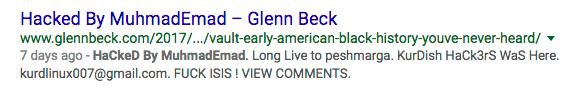 glenn beck hacked