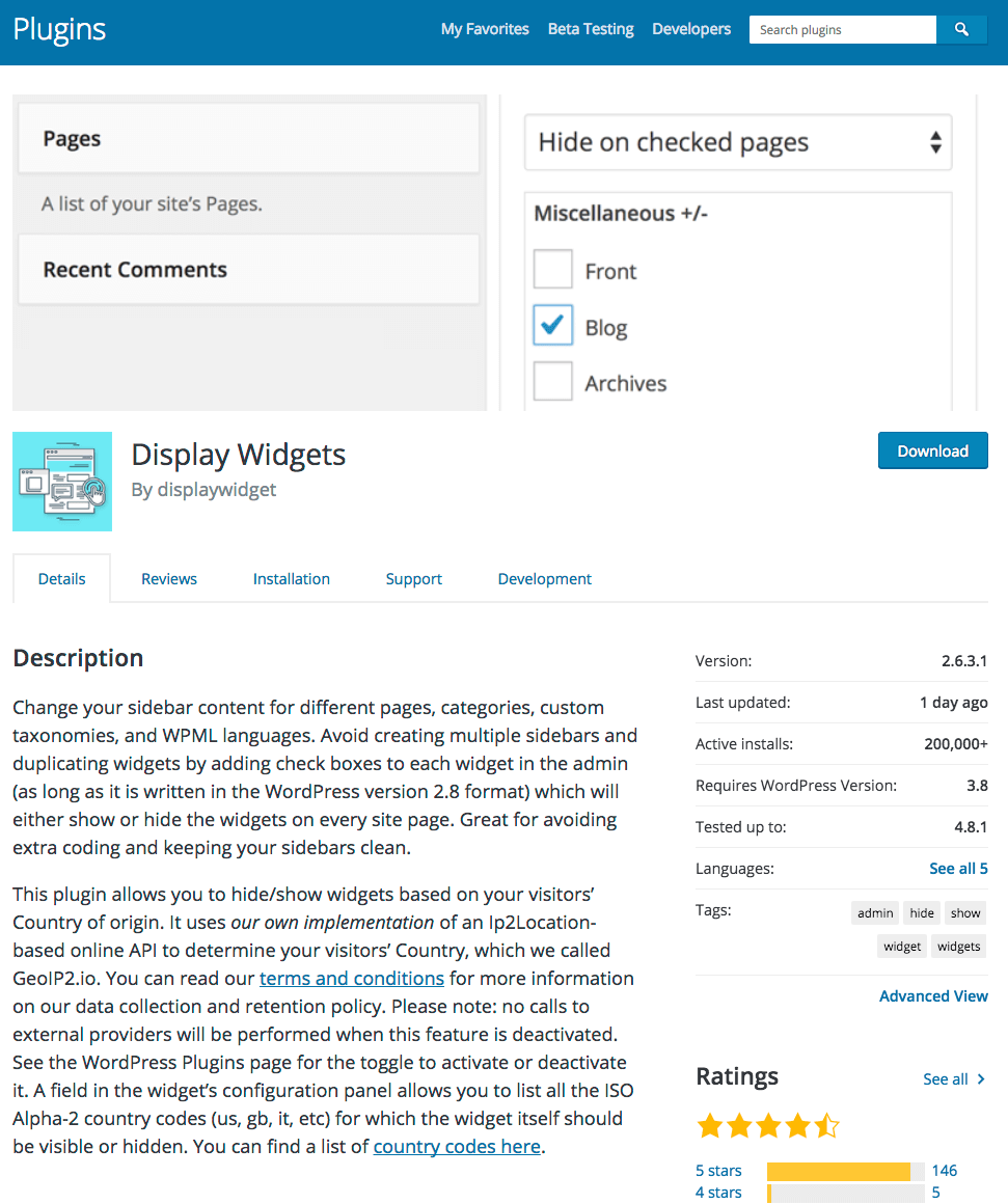 On June 21st A Plugin Called Display Widgets Was Sold By Its Owner To User Known As Displaywidget The WordPress Org Forums