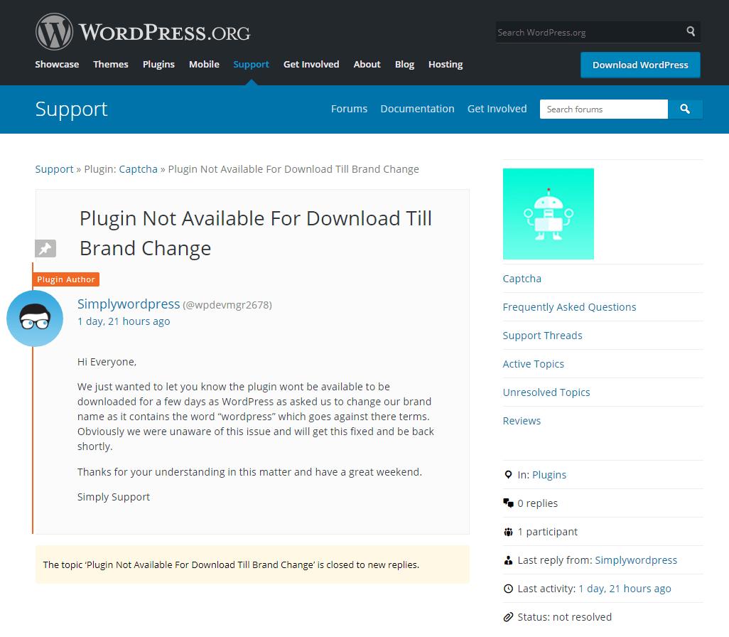 Backdoor in Captcha Plugin Affects 300K WordPress Sites