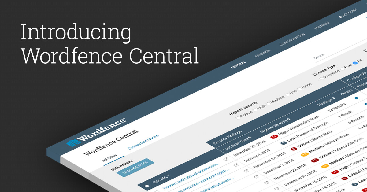 Introducing Wordfence Central