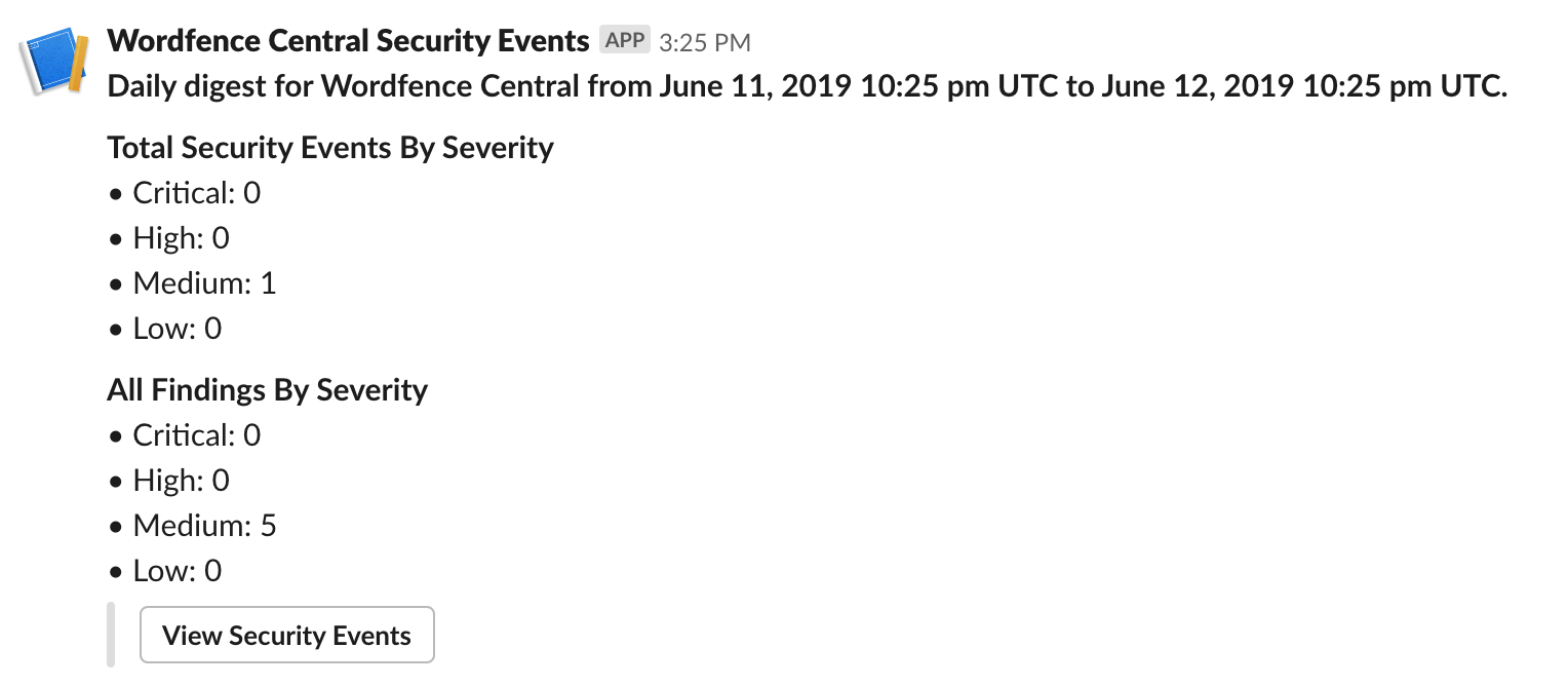 Major Central Release: Alerts, Security Events and Slack