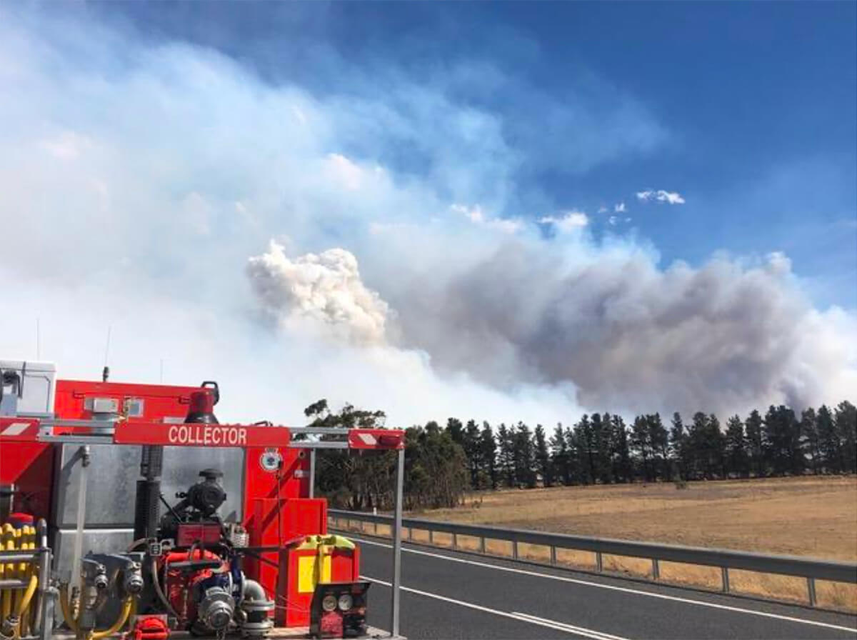 Currawan Bushfire on 7 December 2019