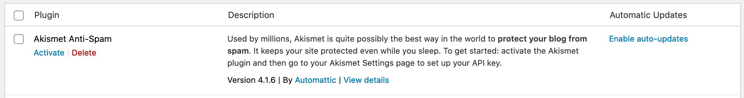 wordpress auto update plugins